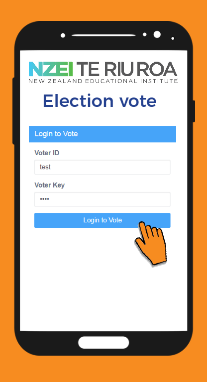 Enter your voter id and voter key