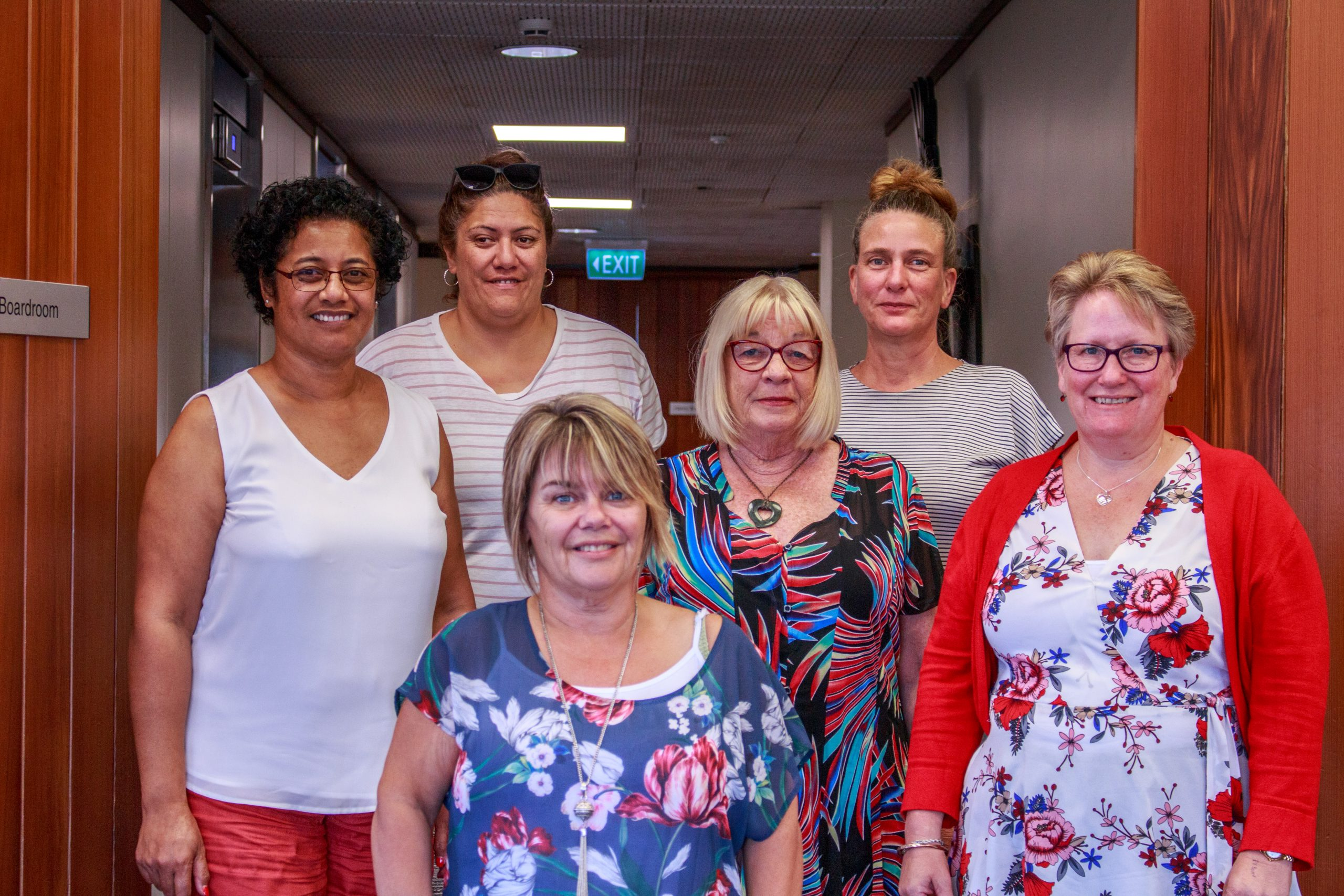 Teacher Aide Pay Equity negotiating team: Fa'a Sisnet, Annie Te Moana, Marcia Martin, Sue Poole, Ally Kemplen, Andrea Andrews, Te Whanganui-ā-Tara / Wellington